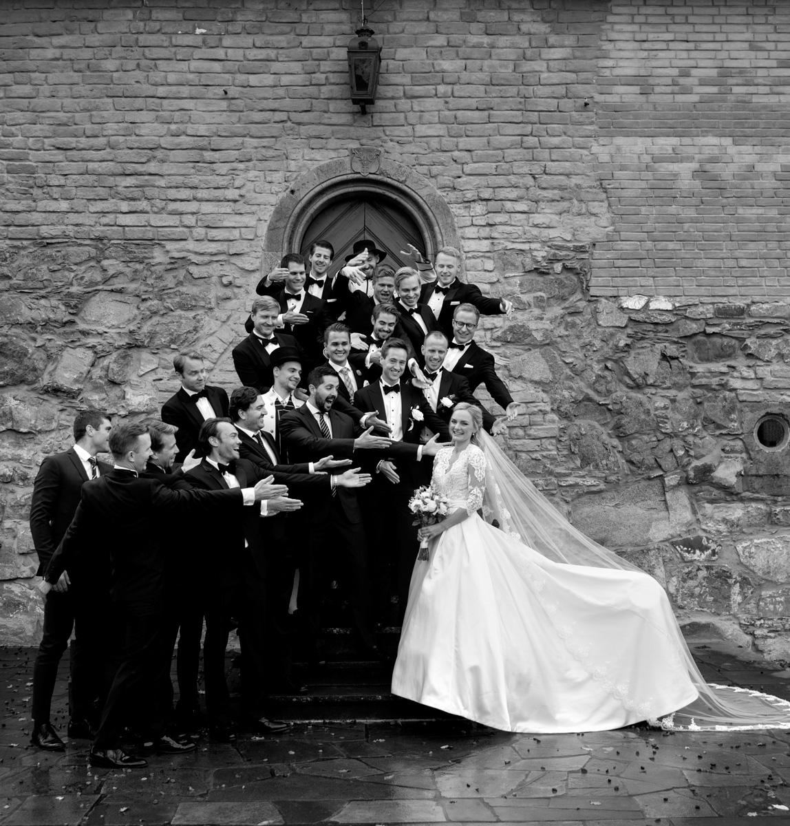 Bride & men